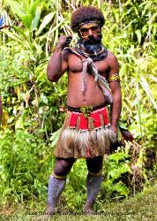 Young Huli man Papua New Guinea