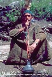 Kashmiri man with hookah India