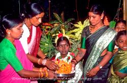Girl's coming of age ceremony Tamil Nadu South India image 1