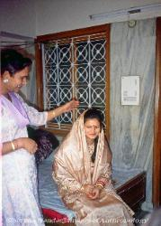 Hijra blessing a new bride New Delhi India