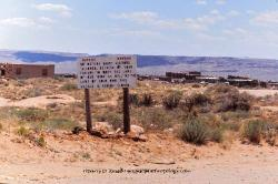 Warning sign outside of a Hopi village, Arizona 1975