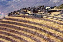 Inca agricultural terraces, ruins of Pisac