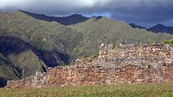 Inca walls at Chinchero, Andes Mts, Peru