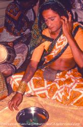 Hijra transvestite transsexual participating in a ritual India