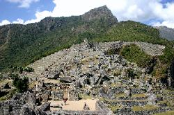 Interior view of Machu Picchu