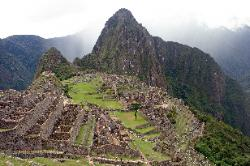 View of Machu Picchu from Intipunku, the Sun Gate, Peru