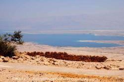 the Dead Sea viewed from the heights of Masada, Israel