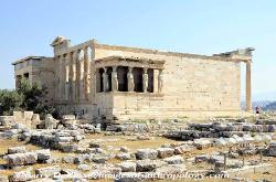 The Erechtheion on the Acropolis in Athens