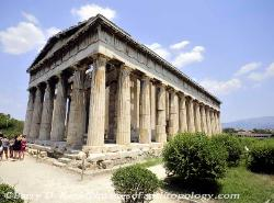 The Temple of Hephaistos in Athens