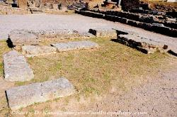 Hera's Altar at Olympia in Greece