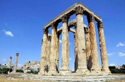 The Parthenon as viewed from the Temple of Olympian Zeus in Athens image 1