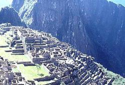 Closeup of Machu Picchu, Andes Mts, Peru