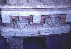 Zapotec tomb, valley of Oaxaca, Mexico