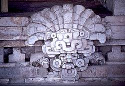 Zapotec diety, tomb in the valley of Oaxaca, Mexico