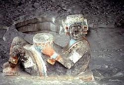 Chac Mool diety, Major Temple of the Aztecs, Mexico City