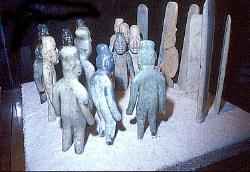 Olmec figures from La Venta, Museum of Anthropology, Mexico City
