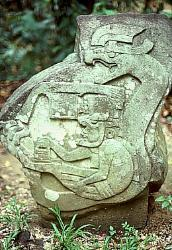 Olmec serpent carving, Villahermosa, Mexico